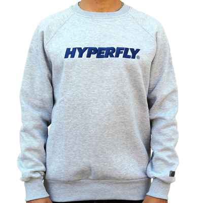 Hyperfly Embroidered Crewneck - Grey