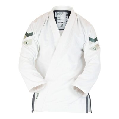 Hyperlyte     2.5 Female Slim Cut BJJ Gi Wolf Grey on White
