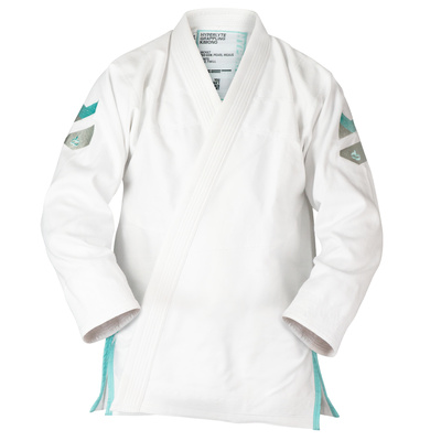 Hyperlyte 2.0  BJJ Gi White w/ Tiffany Blue