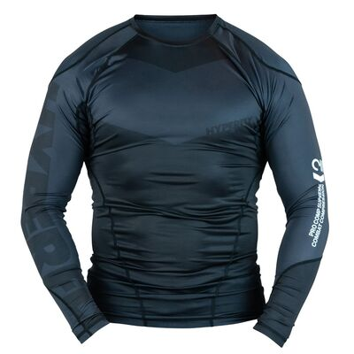Hyperfly ProComp      Supreme Rank Rashguard - Black Long Sleeve