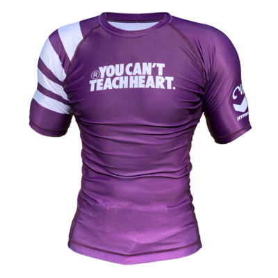 Hyperfly YCTH. Rank Rash         Guard - Purple Short Sleeve