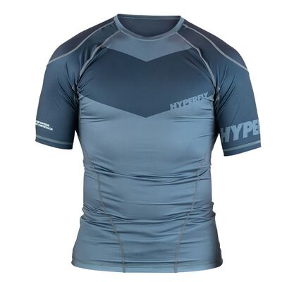 Hyperfly ProComp             Supreme Training Rashguard - Grey Short Sleeve
