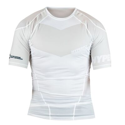 Hyperfly ProComp            Supreme 2.0 Rank Rashguard - White Short Sleeve
